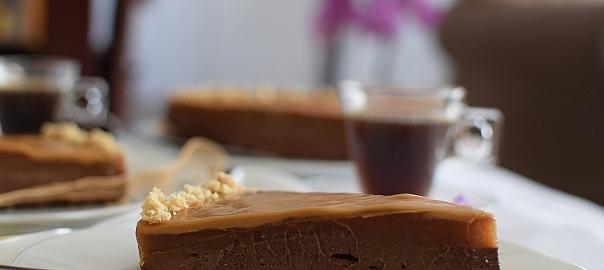עוגת גבינה שוקולד וחמאת בוטנים