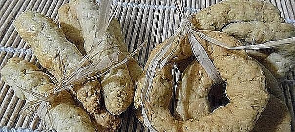 עוגיות מלוחת של אצבע וכעכים