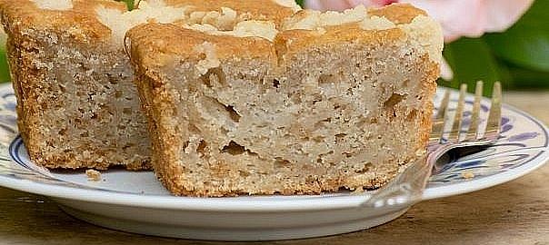 עוגת תפוחים בטעם של דבש