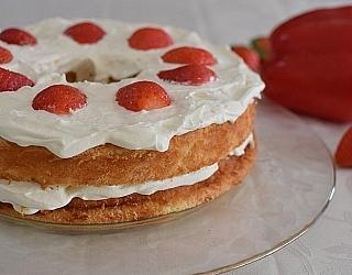עוגת שכבותתותים וקצפת